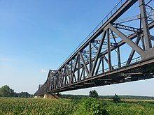 Luokou yellow river railway bridge south shore view closeup 2.jpg
