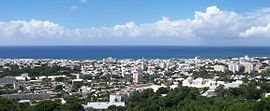 Panoramic view of the city from the heights of Bellepierre