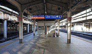 常磐线特急、宇都宫线、高崎线站台(16、17号站台)