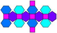 倒角立方体的展开图