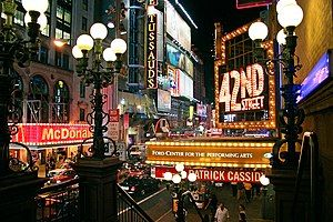 42nd Street, in the Broadway Theatre District