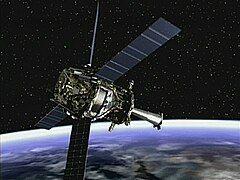 轨道上的引力探测器B,艺术家的构想图