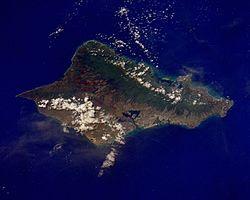 瓦胡岛卫星图