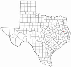 拉夫金在德克萨斯州的位置