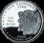 New Hampshire quarter dollar coin