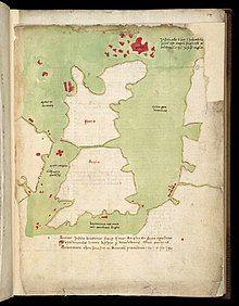 British Isles as depicted in Harley Codex Minuscule 3686.jpg