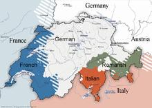 English-language version of Linguistic map of Switzerland.png