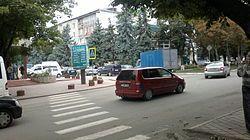 Intersecție în centrul orașului Edineț.jpg