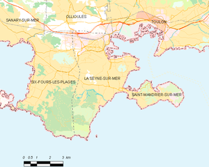 滨海拉塞讷市镇地图
