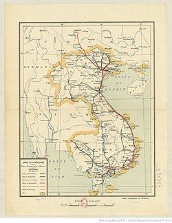 1933 Map of French Indochina
