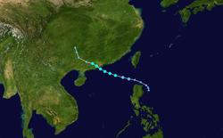 台风海高斯的路径图