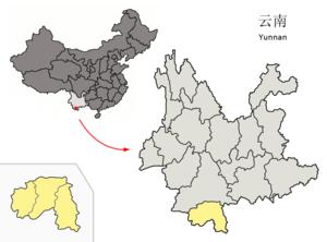 图中高亮显示的是ᦈᦹᧈ ᦈᦹᧈ ᦵᦋᦲᧁᧈ ᦘᦱ ᦉᦱ ᦺᦑ ᧑᧒ ᦗᧃ ᦓᦱ 西双版纳傣族自治州