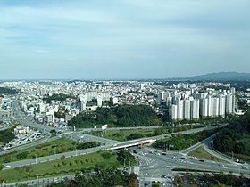 Gangneung view from tower 01.JPG