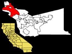 阿拉米达县内位置