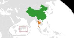 China和Thailand在世界的位置