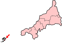 Location of 锡利群岛
