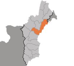 清津市在咸镜北道的位置