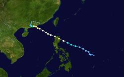 强台风姬罗莉亚的路径图
