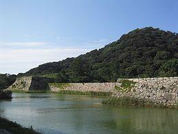 指月山及萩城的天守台