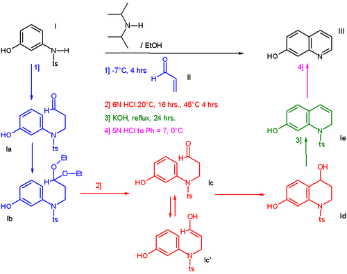 One-Pot Preparation of 7-Hydroxyquinoline
