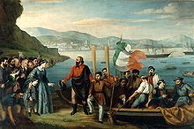 Giuseppe Garibaldi, while leaving from Quarto with his soldiers