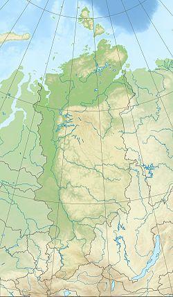 Laptev Sea在克拉斯诺亚尔斯克边疆区的位置