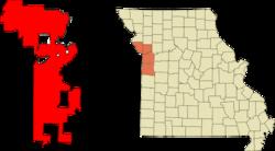 位于密苏里州的杰克逊县、克莱县、普拉特县和卡斯县