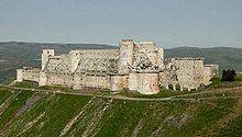 Modern photograph of Krak des Chevaliers castle