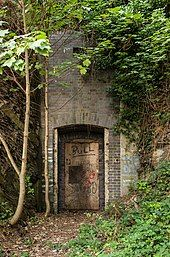 Tunnel entrance, National Library of Wales