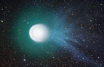 Comet 17P/Holmes and its blue ionized tail