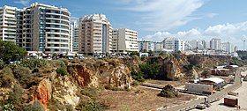 Apartment buildings at Praia da Rocha, Portimão (cropped).jpg