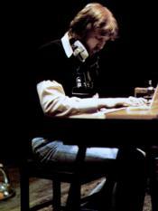 Harry Nilsson in a 1974 trade ad