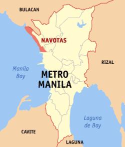 纳沃塔斯在菲律宾上的位置