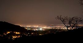 Bamako night hills may 2007.jpg