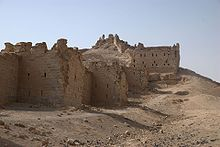 Ruins of a sandstone fortress