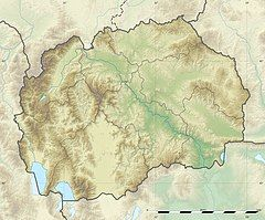 科拉比山在马其顿共和国的位置