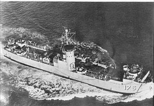 USS LSM-175 1944年在查尔斯顿海军造船厂下水