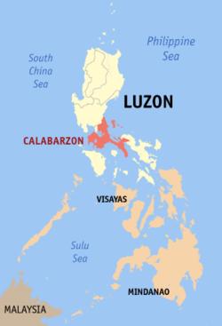 卡拉巴松于菲律宾位置图