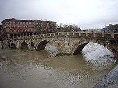 Tiber Island in flood, December 2008