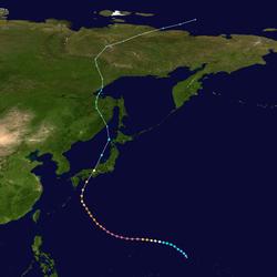 超强台风飞燕的路径图