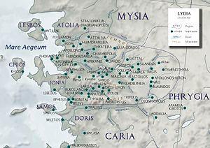Ionia and Lydia around 50 AD
