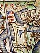 Sweyn Forkbeard, from an architectural element in the Swansea Guildhall, Swansea, Wales
