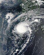 Tropical Depression 11W as seen from Aqua Satellite on 2008-08-14.jpg