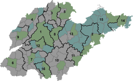 山东省行政区划图