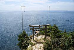 琵琶湖与竹生岛上的都久夫须麻神社(日语:都久夫須麻神社)