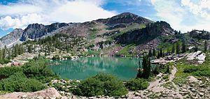 Cecret Lake Panorama Albion Basin Alta Utah July 2009.jpg