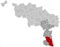 Chimay Hainaut Belgium Map.png
