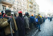 Protesters surround the Ministry of Justice, Kyiv, 27 January 2014