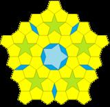 Kepler decagon pentagon pentagram tiling.png