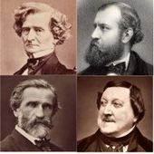 head and shoulder images of four 19th-century men in middle age